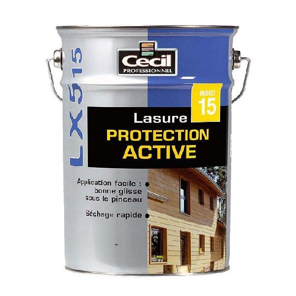 Lasure protection active LX515 acrylique satinée chêne doré bidon 1L