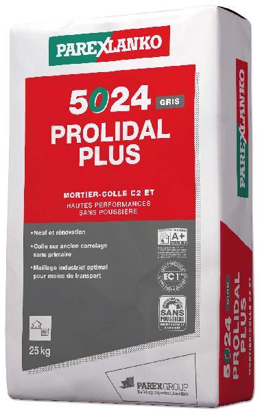 Mortier colle PROLIDAL + 5024 gris sans poussière sac 25kg