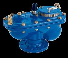 Ventouse 3 fonctions VENTEX DN150 PFA 25 ISO PN25 avec robinet