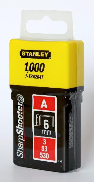 Agrafes type A 6mm boite 1000 pièces