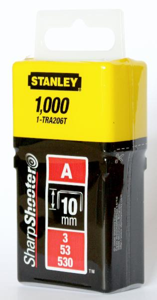 Agrafes type A 10mm boite 1000 pièces