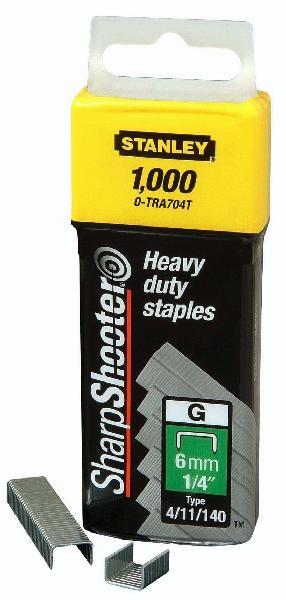 Agrafes type G 6mm boite 1000 pièces