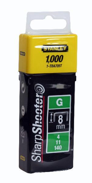 Agrafes type G 8mm boite 1000 pièces