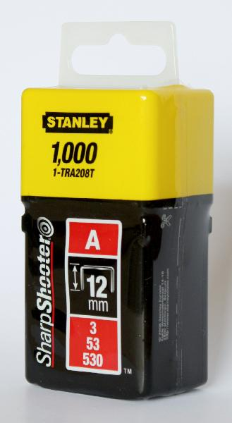 Agrafes type A 12mm boite 1000 pièces