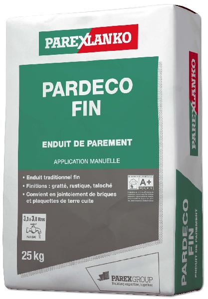 Enduit PARDECO fin G10 25Kg