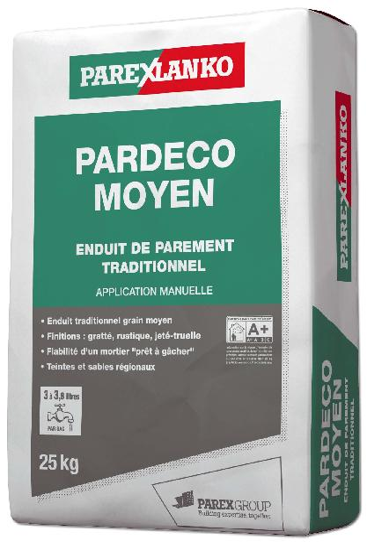 Enduit PARDECO moyen G10 25Kg