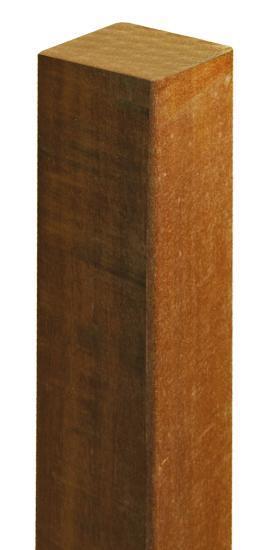 Poteau ipe raboté 4 faces 90x90mm 2,45m
