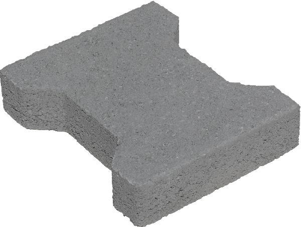 Pavé H bords chanfreinés gris Ep.4,2cm