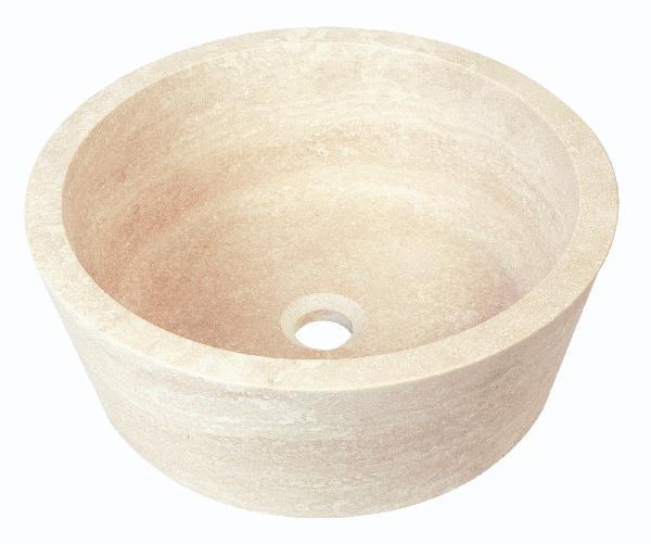 Vasque cylindrique marbre blanc
