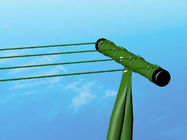 Etendage extérieur plastifié vert avec 20 m de fil