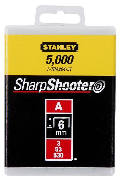 Agrafes type A 6mm boite 5000 pièces