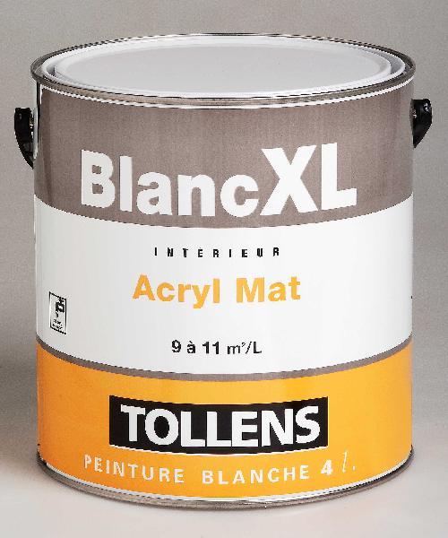 Peinture de finition acrylique mat XL blanc 4L