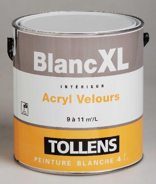 Peinture de finition acrylique velours XL blanc 4L