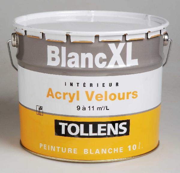 Peinture de finition acrylique velours XL blanc 10L