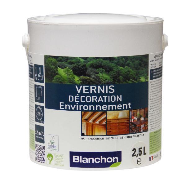 Vernis bois DECO ENVIRONNEMENT intérieur gélifié incolore 2,5L