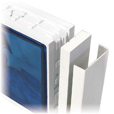 Profilé de finition U CUBIVER PRU alu laqué blanc 0,20x7,2cm 3m