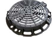 Grille fonte ronde plate OPTIMA GR D400 Ø850-Ø600