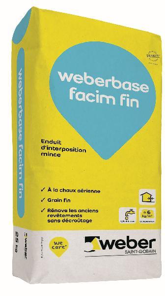 Enduit d'interposition WEBERBASE FACIM FIN blanc sac 25kg