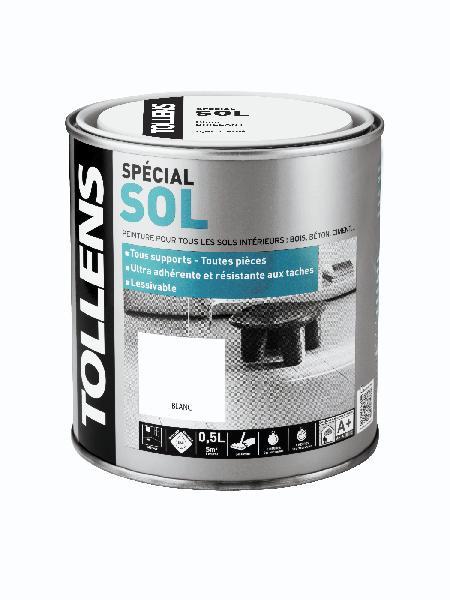 Peinture satinée acrylique SP sol blanc 0,5l
