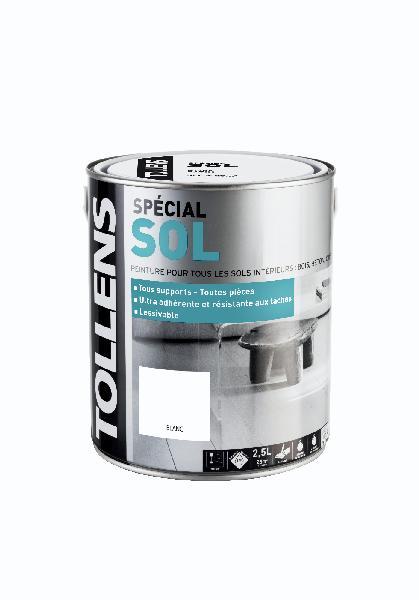 Peinture satinée acrylique SP sol blanc 2,5l