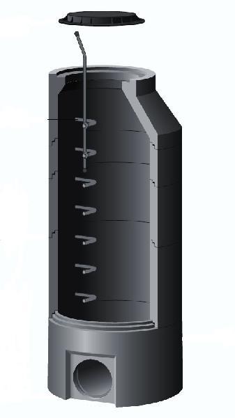 ELEMENT DE TETE BETON POUR REGARD Ø1000 H.23CM
