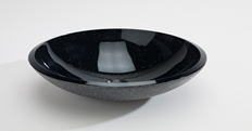 Lavabo REDONDO COSMIC verre noir 42x42x14cm