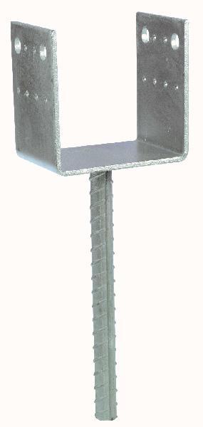 Pied de poteau en U à sceller PPD 100x250x70mm Ep.5