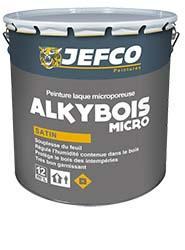 Peinture laque bois alkyde ALKYBOIS MICRO satinée base TR 4L