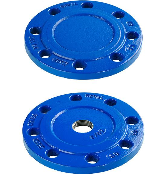 PLAQUE PLEINE FONTE DN040 ISO PN10-16