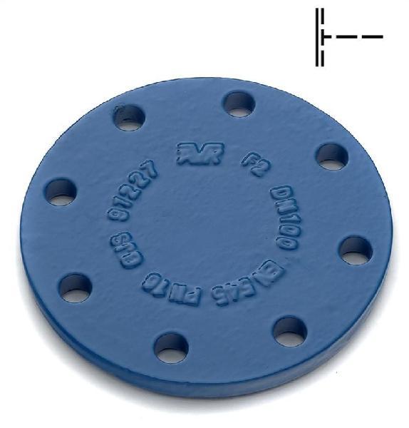 PLAQUE PLEINE FONTE DN080 ISO PN10-16