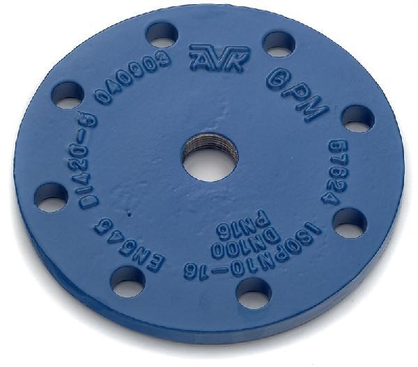 PLAQUE FONTE DN060 TARAUDAGE 50/60 ISO PN10-16