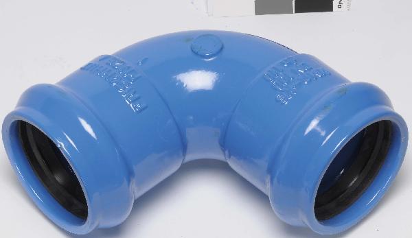 COUDE FONTE POUR PVC Ø110 90°-1/4