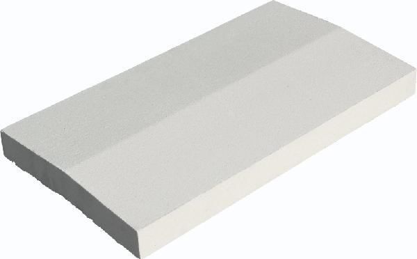 Couvertine CLASSIQUE 2 pentes 49x28cm Ep.4cm blanc cassé