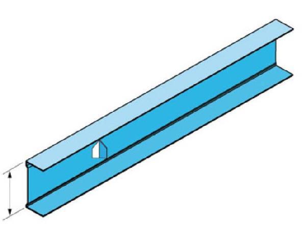 Rail métal STIL PRIM R 3,00m