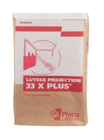 Plâtre allégé à projeter LUTECE PROJECTION 33X PLUS sac 33kg