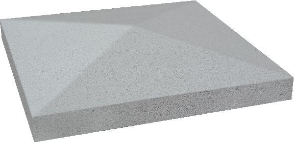 Chapeau pilier pointe diamant 40x40x4cm gris