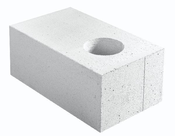 Bloc béton cellulaire THERMO 36.5 chaînage vertical 36,5x25x62,5cm