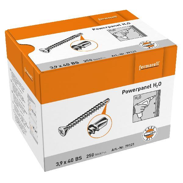 Vis plaque de plâtre POWERPANEL H2O Ø3,9x40mm boite 250