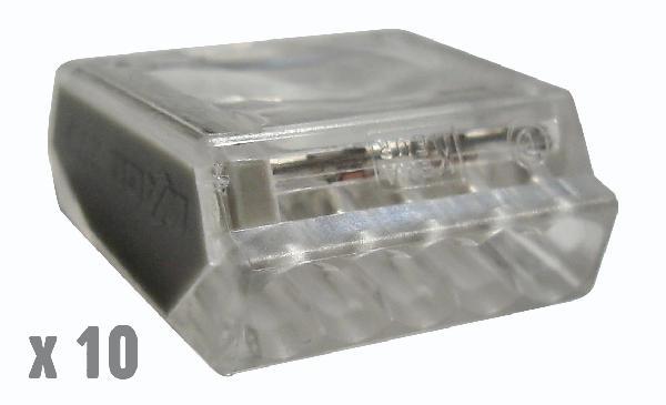 Bornes de connexion automatique 5 X 0,5 à 2,5mm² boite 10