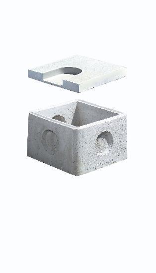 Couvercle béton pour regard 40x40 int