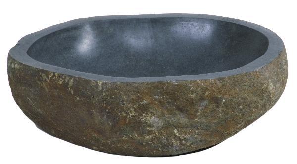 Vasque à poser pierre naturelle roc naturel