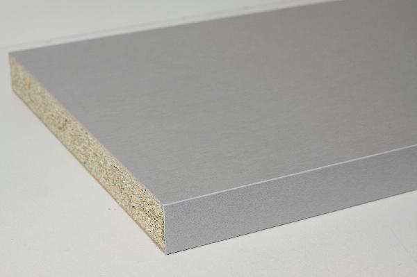 Plan de travail alumimium cendré 38x640mm 300cm