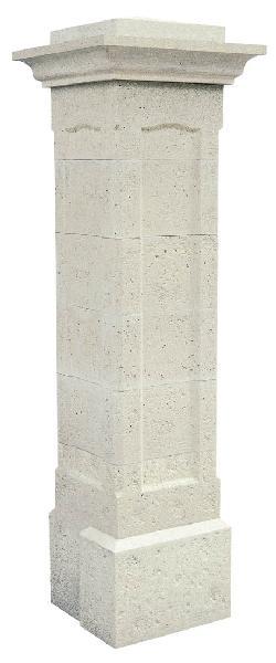 Pilier béton droit CHAMBORD blanc 40x40x193cm