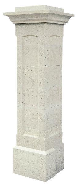 Pilier béton gauche CHAMBORD blanc 40x40x193cm