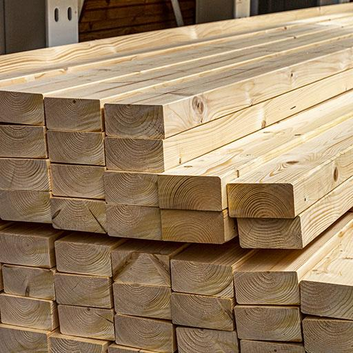 Bois massif abouté sapin/épicéa non traité 80x140mm 13,00m