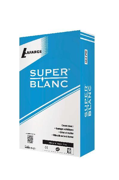 Ciment superblanc CEM II/A-S CP2 42,5 N CE+NF sac 35kg
