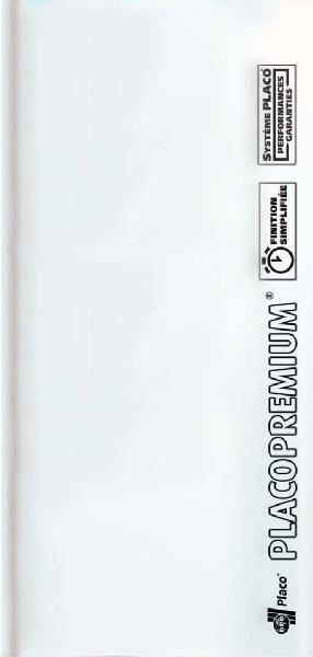 Plaque plâtre PREMIUM hydro 2BA prépeint blanc 13mm 250x120cm