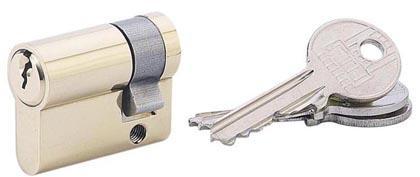 Demi-cylindre profil européen 5 goupilles SA laiton 30 x 10 3 clés