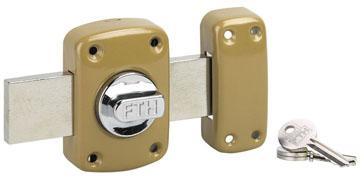 Verrou de sûreté CORVETTE pêne 160 3 clés à bouton et cylindre Ø30mm