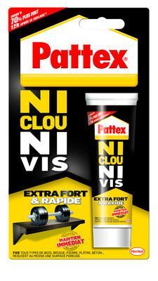 Colle de fixation forte et rapide NI CLOU NI VIS PATTEX tube 52g
